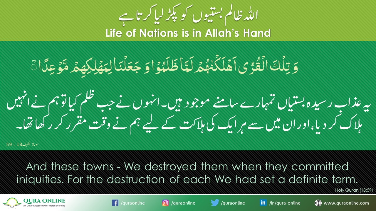 Life of nations in Allah's Hands